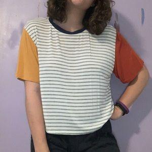 NWOT Striped Color Block T-Shirt